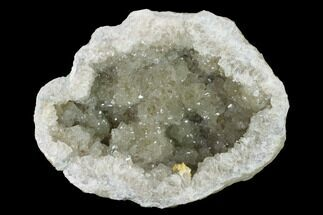 "Buy 6.8"" Keokuk Quartz Geode with Dolomite Crystals (Half) - Illinois - #144763"