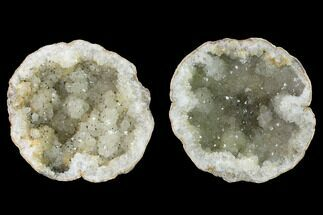 "Buy 4.4"" Keokuk Quartz Geode with Pyrite Crystals - Iowa - #144742"
