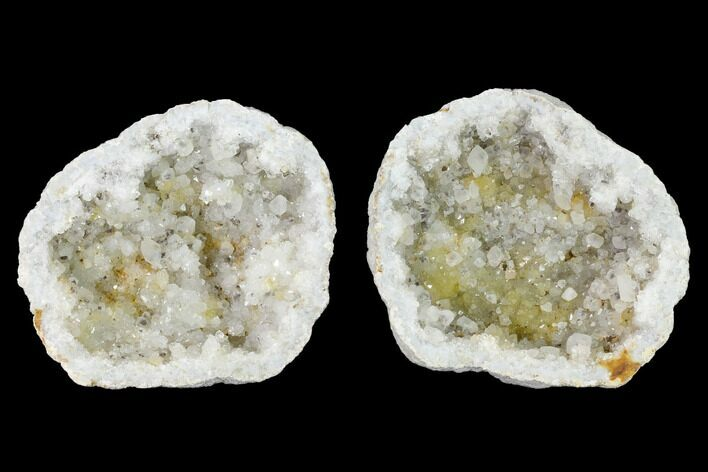 "3.2"" Keokuk Quartz Geode with Calcite Crystals - Iowa"