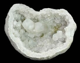 "Buy 6.9"" Keokuk Geode with Calcite & Pyrite (Both Halves) - Missouri - #144766"