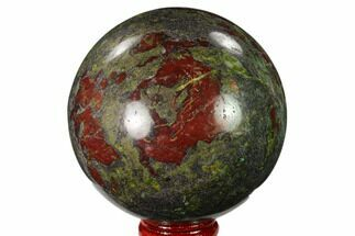 "3"" Polished Dragon's Blood Jasper Sphere - South Africa For Sale, #146099"