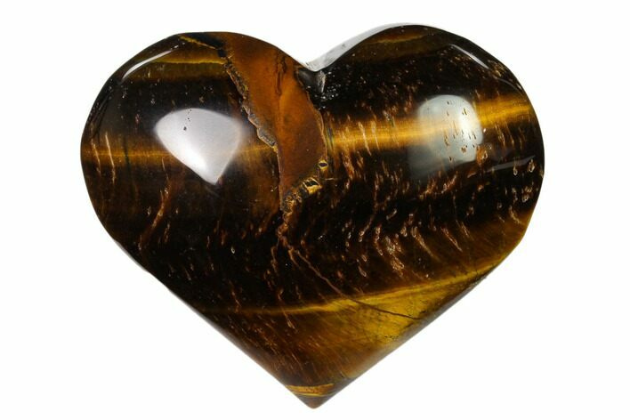 "2.85"" Polished Tiger's Eye Heart"