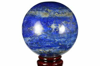 "Buy 3.3"" Polished Lapis Lazuli Sphere - Pakistan - #149371"