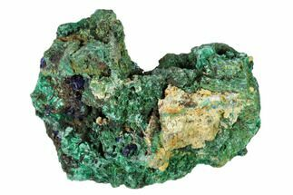 "2.6"" Sparkling Azurite Crystals with Malachite - Laos For Sale, #149315"