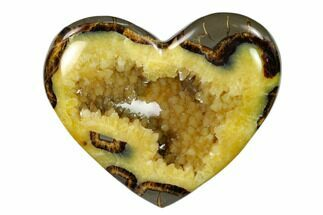 "Buy 4.9"" Polished Utah Septarian Heart - Beautiful Crystals - #149944"