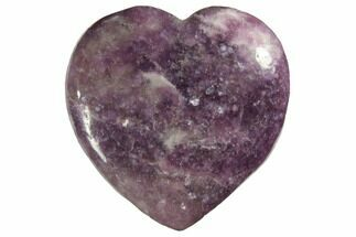 "Buy 1.6"" Polished Lepidolite Hearts - #150379"