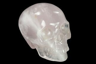 "Buy 3"" Realistic, Polished Brazilian Rose Quartz Crystal Skull - #151078"