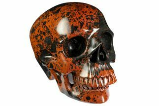 "Buy 7"" Realistic Polished Mahogany Obsidian Skull - Mexico - #151216"