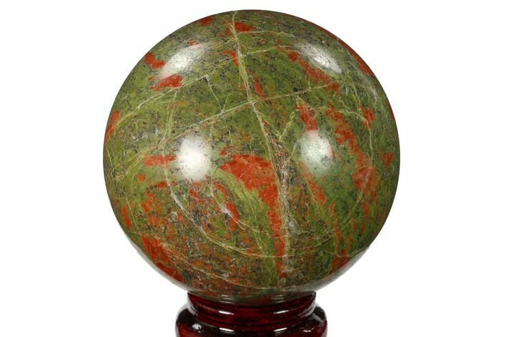 "3"" Polished Unakite Sphere - South Africa"