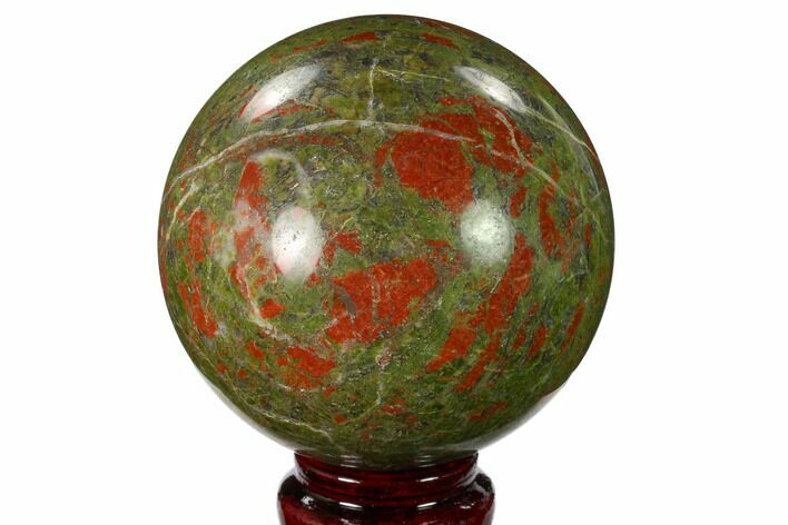 "3.25"" Polished Unakite Sphere - South Africa"