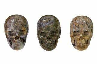 "Buy 1.5"" Polished Amethyst Breccia Skulls - #152767"