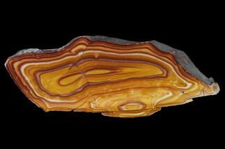 "Buy 6.9"" Polished Banded Rhyolite (Hickoryite) Slab - Mexico - #152665"