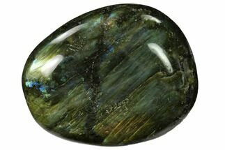 "Buy 3"" Flashy, Polished Labradorite Palm Stone - Madagascar - #155698"