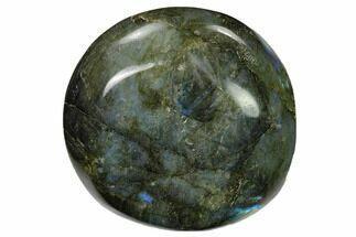 "2.45"" Flashy, Polished Labradorite Palm Stone - Madagascar For Sale, #155699"