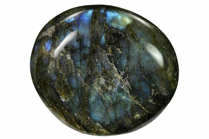 "2.85"" Flashy, Polished Labradorite Palm Stone - Madagascar"