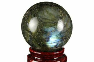 "Buy 2"" Flashy, Polished Labradorite Sphere - Great Color Play - #157996"