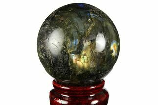 "2.2"" Flashy, Polished Labradorite Sphere - Great Color Play For Sale, #158000"