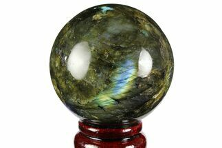 "2.6"" Flashy, Polished Labradorite Sphere - Great Color Play For Sale, #158009"