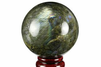 "Buy 3"" Flashy, Polished Labradorite Sphere - Great Color Play - #158011"