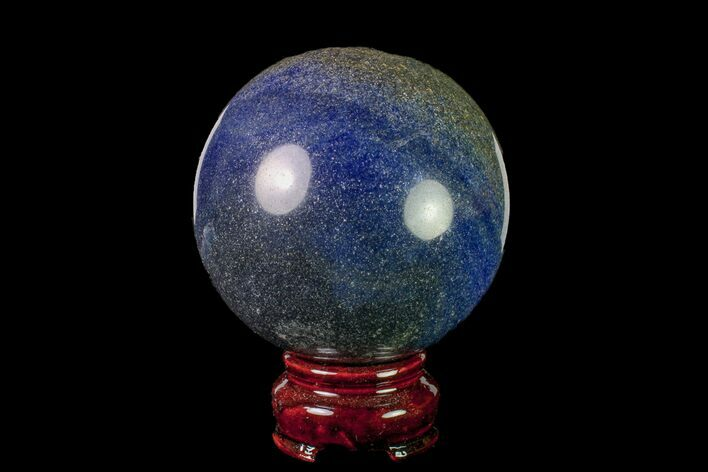 "2.9"" Polished Dumortierite Sphere - Madagascar"