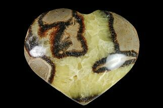 "3.55"" Polished Septarian Heart - Madagascar For Sale, #156650"