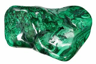 "Buy 3.8"" Flowery, Polished Malachite Specimen - Congo - #159874"