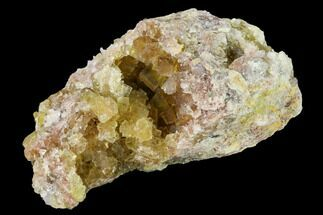"3.2"" Yellow Cubic Fluorite Crystal Cluster with Quartz - Morocco For Sale, #159965"