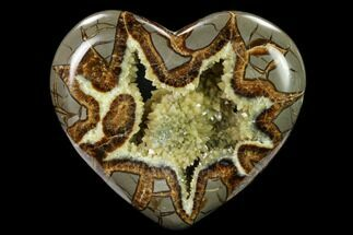 "5.1"" Polished, Utah Septarian Heart - Beautiful Crystals For Sale, #160178"