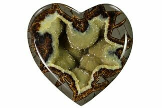 "4.6"" 3D Utah Septarian Heart - Beautiful Crystals For Sale, #160184"