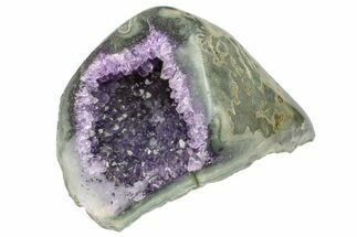 "4.9"" Purple Amethyst Geode With Polished Face - Uruguay For Sale, #153437"