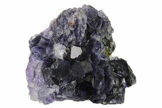 "2.7"" Purple Cuboctahedral Fluorite Crystals on Quartz - China For Sale, #161822"