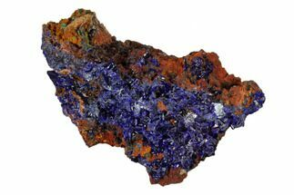 "Buy 2.2"" Sparkling Azurite Crystals with Malachite - Laos - #162580"
