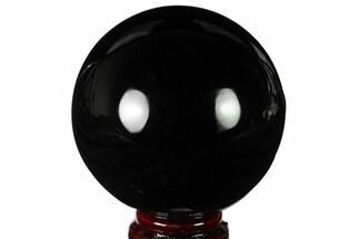 "Buy 3.3"" Polished Obsidian Sphere - Mexico - #163288"