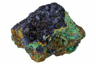 "Buy 4.5"" Sparkling Azurite Crystals with Malachite - Laos - #163255"