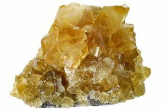 "Buy 2.9"" Lustrous Yellow Calcite Crystal Cluster - Fluorescent! - #163546"