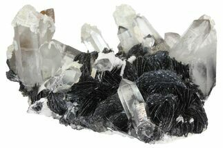 "Buy 5.6"" Quartz Crystals On Sparkling Bladed Hematite - See Video! - #163975"