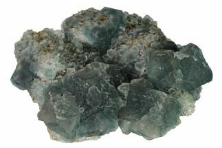 "3.2"" Green Fluorite Crystals on Quartz - China For Sale, #164027"