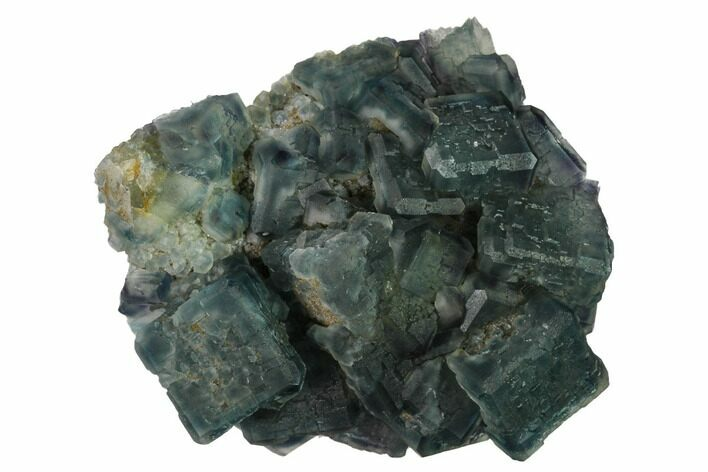 "3"" Multicolored Fluorite Crystals on Quartz - China"