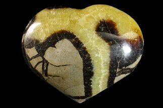 "3.5"" Polished Septarian Heart - Madagascar For Sale, #156677"