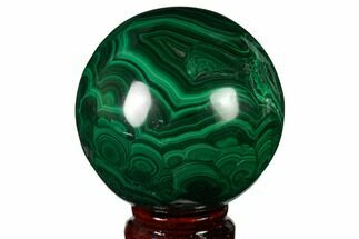 "2.9"" Polished Malachite Sphere - Congo For Sale, #164498"