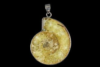 "Buy 1.4"" Fossil Ammonite Pendant - 110 Million Years Old - #166126"