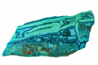 "6.3"" Polished Chrysocolla and Malachite - Bagdad Mine, Arizona For Sale, #167273"