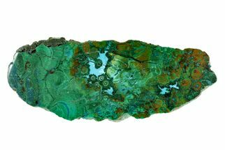 "3.1"" Polished Chrysocolla and Malachite - Bagdad Mine, Arizona For Sale, #167432"