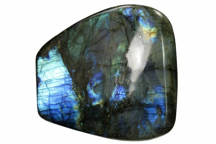 "4.2"" Flashy, Polished Labradorite Free Form - Madagascar"