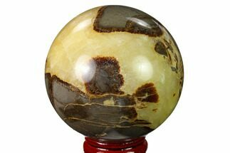 "2.4"" Polished Septarian Sphere - Utah For Sale, #167609"