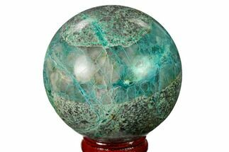 "2.35"" Polished Chrysocolla and Malachite Sphere - Bagdad Mine, Arizona For Sale, #167648"