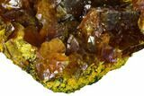 "Lustrous, 2.3"" Orpiment Crystal Cluster - Twin Creeks Mine, Nevada - #168398-3"