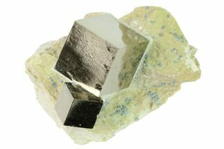 Buy Two Lustrous, Natural Pyrite Cubes in Rock - Navajun, Spain - #168532