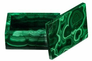 "2.35"" Polished Malachite Jewelry Box - Congo For Sale, #169856"