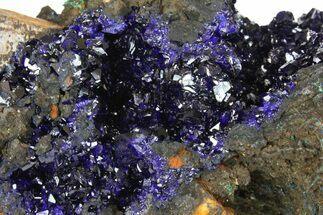 "4.8"" Sparkling Azurite Crystals with Malachite - Laos For Sale, #170024"